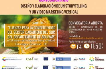 CONVOCATORIA 018 DISEÑO Y ELABORACIÓN DE UN STORYTELLING Y UN VIDEO MARKETING VERTICAL (Cuarta Fecha)