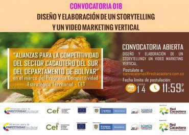 CONVOCATORIA 018 DISEÑO Y ELABORACIÓN DE UN STORYTELLING Y UN VIDEO MARKETING VERTICAL (Cuarta Fecha)