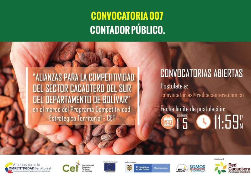 CONVOCATORIA 007 CONTADOR PÚBLICO.