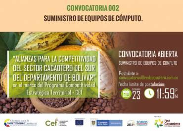 CONVOCATORIA 002 SUMINISTRO DE EQUIPOS DE CÓMPUTO. (Segunda Fecha)