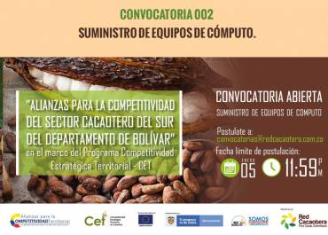 CONVOCATORIA 002 SUMINISTRO DE EQUIPOS DE CÓMPUTO. (Tercera Fecha)