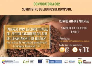 CONVOCATORIA 002 SUMINISTRO DE EQUIPOS DE CÓMPUTO. (Quinta Fecha)